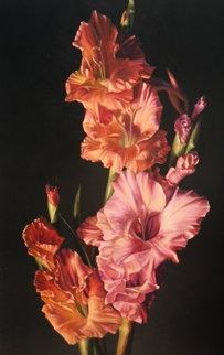 Gladiolus 1987 11x15 Original Painting - Bob Byerley