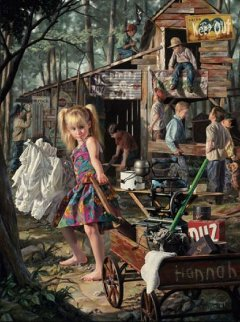 Clubhouse 1997 Embellished Limited Edition Print - Bob Byerley