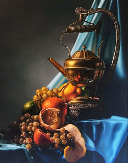 Still Life 1983 26x22 Original Painting - Bob Byerley
