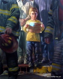 Flag  Hand Embellished  2001 Limited Edition Print by Bob Byerley