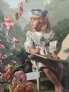 Naming of the Flowers 1997 Embellished  Limited Edition Print by Bob Byerley