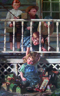 Irresistible 1996   Embellished   Limited Edition Print by Bob Byerley