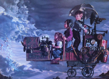 Invitation to Flight 1990  Embellished   Limited Edition Print by Bob Byerley