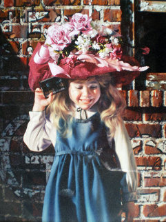 Tin Can Call 1994 46x37 Original Painting - Bob Byerley