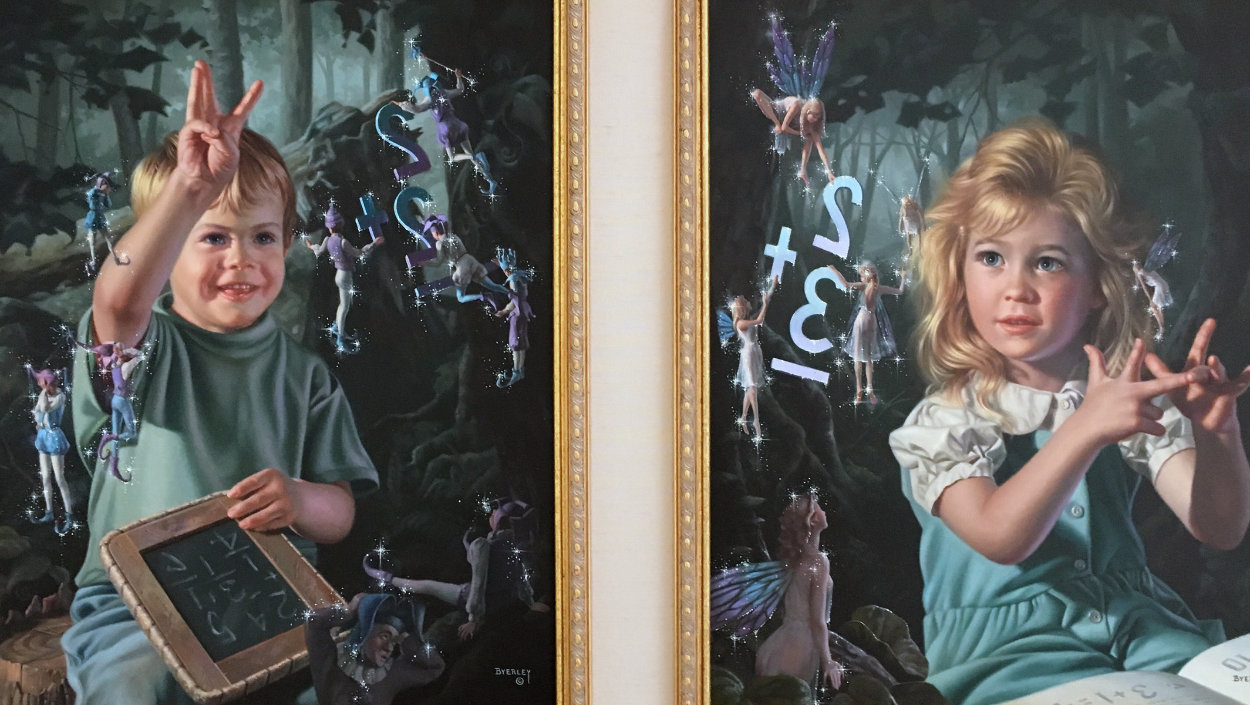 From One to Ten, Suite of 2 Paintings 1996 48x32 Huge  Original Painting by Bob Byerley