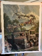 Checkered Flag Embellished Limited Edition Print by Bob Byerley - 1