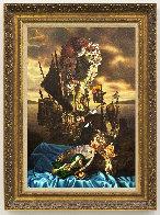 Shell Lady 28x19 Original Painting by Bob Byerley - 1