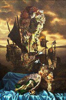 Shell Lady  Original Painting - Bob Byerley