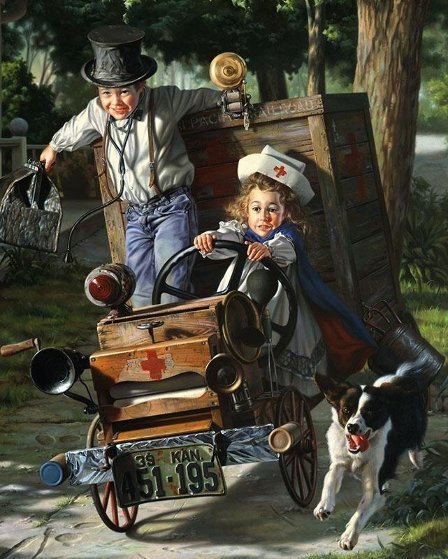 Help is on the Way 1994 Limited Edition Print by Bob Byerley