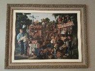 Incredible Shrinking Machine 1997 48x60 Super Huge  Original Painting by Bob Byerley - 1