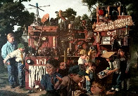 Incredible Shrinking Machine 1997 48x60 Huge  Original Painting by Bob Byerley - 0