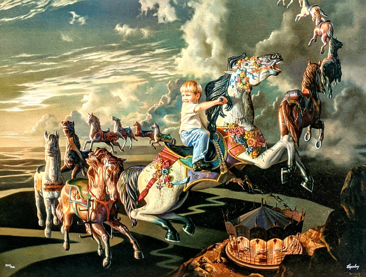 Evening Ride 1996 Limited Edition Print by Bob Byerley