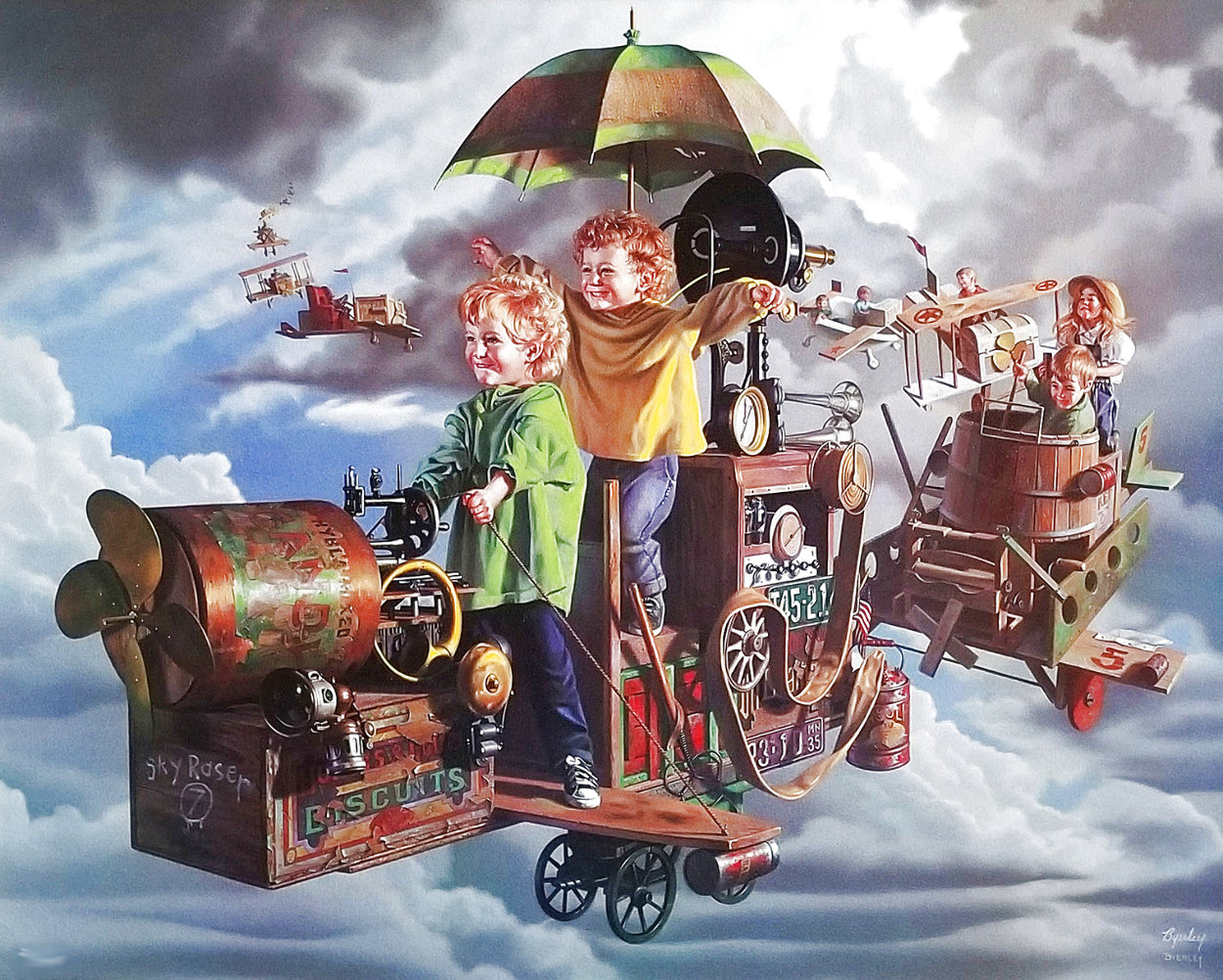 Flight of the Angels Limited Edition Print by Bob Byerley