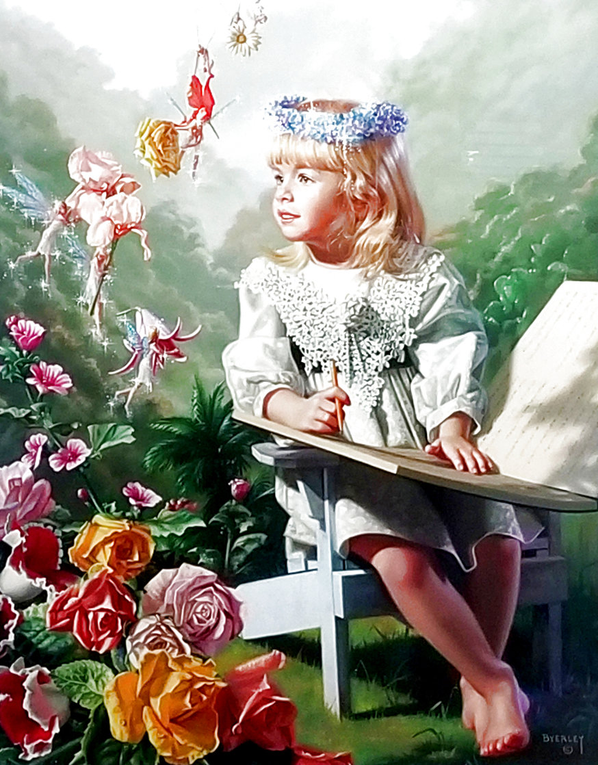 Naming of the Flowers AP Limited Edition Print by Bob Byerley