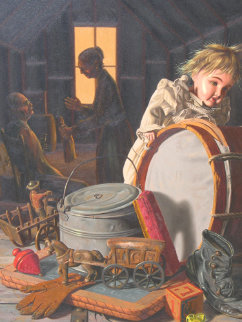Best Remembered 1976 19x15 Original Painting by Bob Byerley