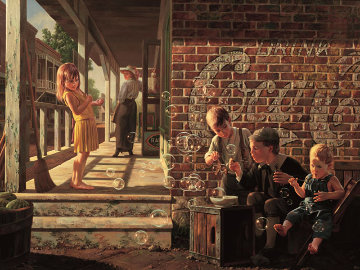 Fascination 1991  Embellished Limited Edition Print by Bob Byerley