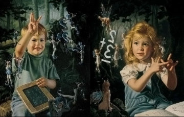 From One to Ten, Set of 2 Prints Embellished Limited Edition Print by Bob Byerley