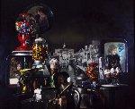 Saturday at 8th and Main 1984 46x35 Original Painting - Bob Byerley