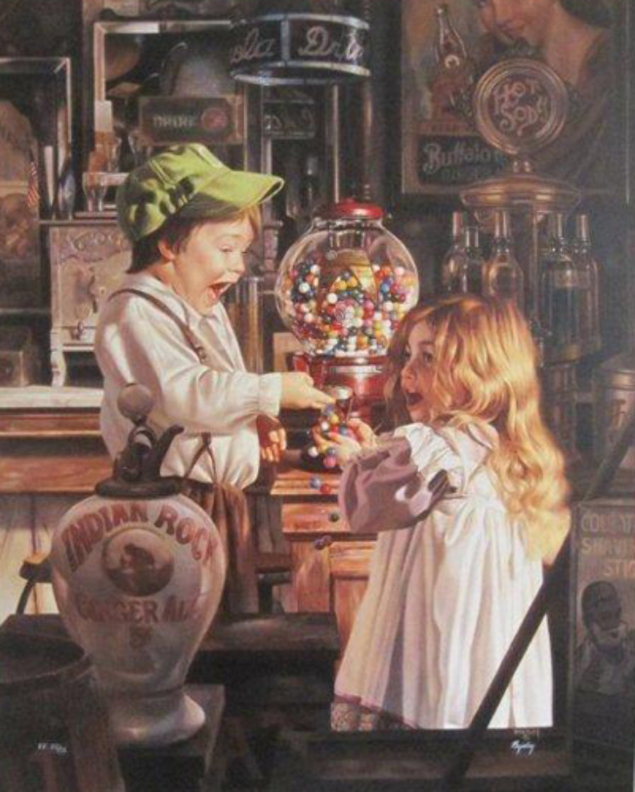 Jackpot  1993 Embellished  Limited Edition Print by Bob Byerley