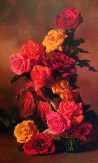 Roses 1979 24x16 Original Painting - Bob Byerley