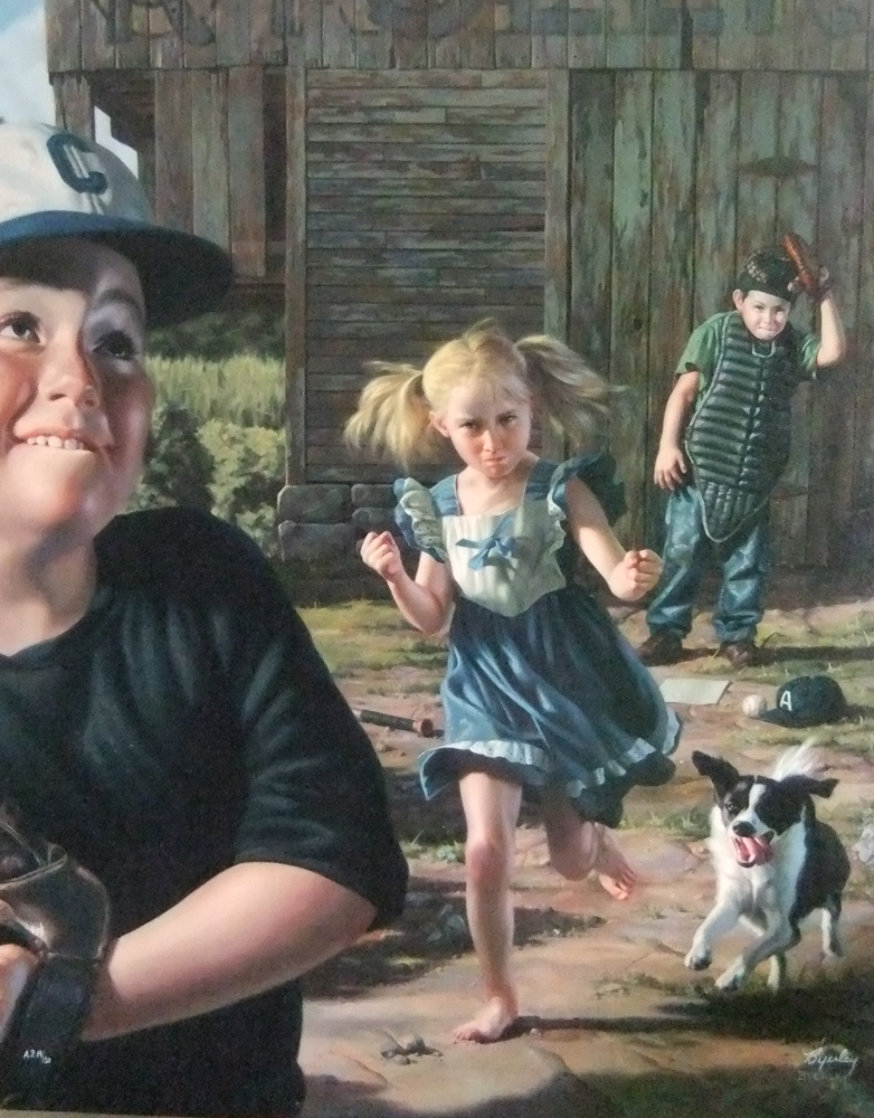 Bean Ball AP 1998 Limited Edition Print by Bob Byerley