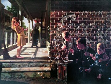 A Fascination 1994 Embellished Limited Edition Print by Bob Byerley