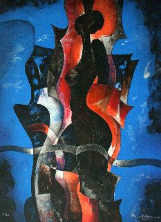 La Mujer En Azul 1980 Limited Edition Print - Byron Galvez
