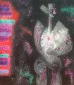 Para Siempre (Forever) 1989 44x37 Original Painting - Byron Galvez