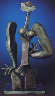 Thinker Bronze Sculpture 1996 Sculpture - Byron Galvez