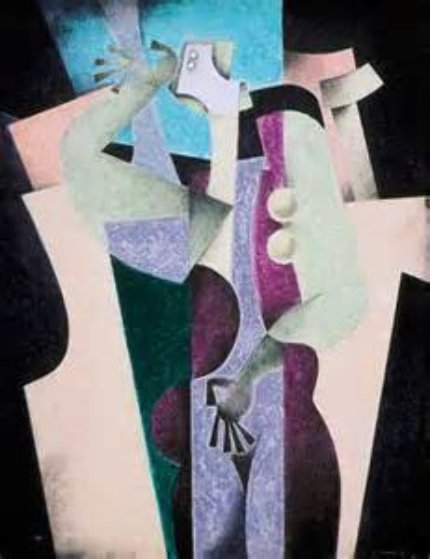 Thinker (A Hommage to Cubism) 1991 Limited Edition Print by Byron Galvez