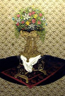 Anointing  (Relic Series) 2014 73x49 Huge Original Painting - Jose Cabrera