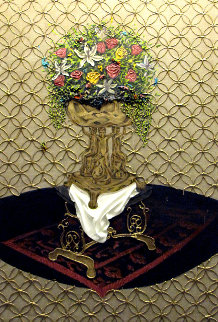 Anointing  (Relic Series) 2014 73x49 Super Huge Original Painting - Jose Cabrera