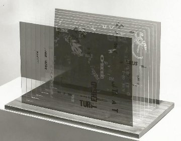Not Wanting to Say Anything About Marcel Plexigram Sculpture 1969 Sculpture - John Cage