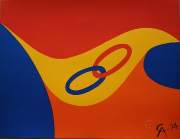 Friendship Rings (Braniff Airlines) 1974 Limited Edition Print - Alexander Calder