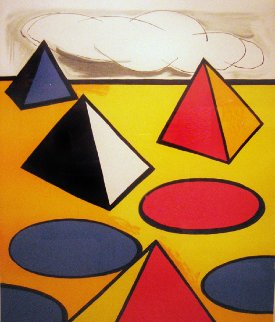 Homage to the Pyramids Limited Edition Print - Alexander Calder