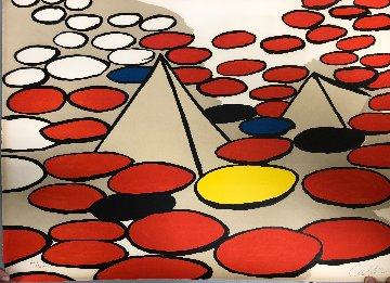 Pyramids And Circles 1976  Limited Edition Print - Alexander Calder