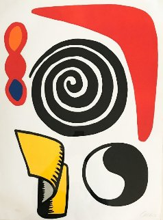 Circle And Spiral 1973 Limited Edition Print - Alexander Calder