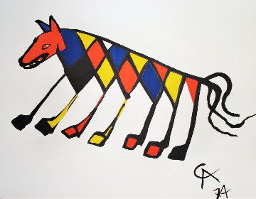 Flying Colors Collection For Braniff Airlines, Suite of 5  1974 Limited Edition Print - Alexander Calder