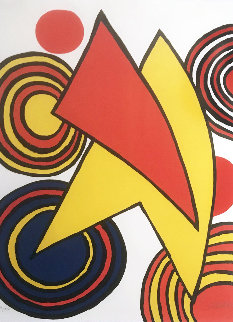 Untitled, Composition Pour Gallery Maeght Limited Edition Print by Alexander Calder