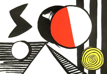 S and the O 1969 Limited Edition Print - Alexander Calder