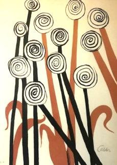 Black Flowers AP 1970 Limited Edition Print - Alexander Calder