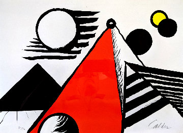 Pyramid Rouge 1969 Limited Edition Print by Alexander Calder