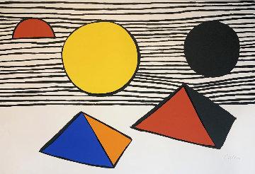 Two Half Disks 1971 Limited Edition Print - Alexander Calder
