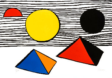 Pyramids and Sun Limited Edition Print - Alexander Calder