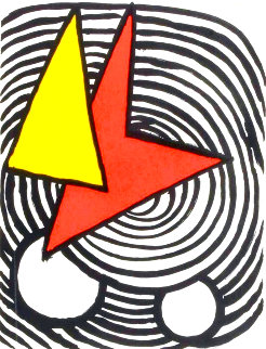 Triangle And Quadrilateral 1973 Limited Edition Print - Alexander Calder