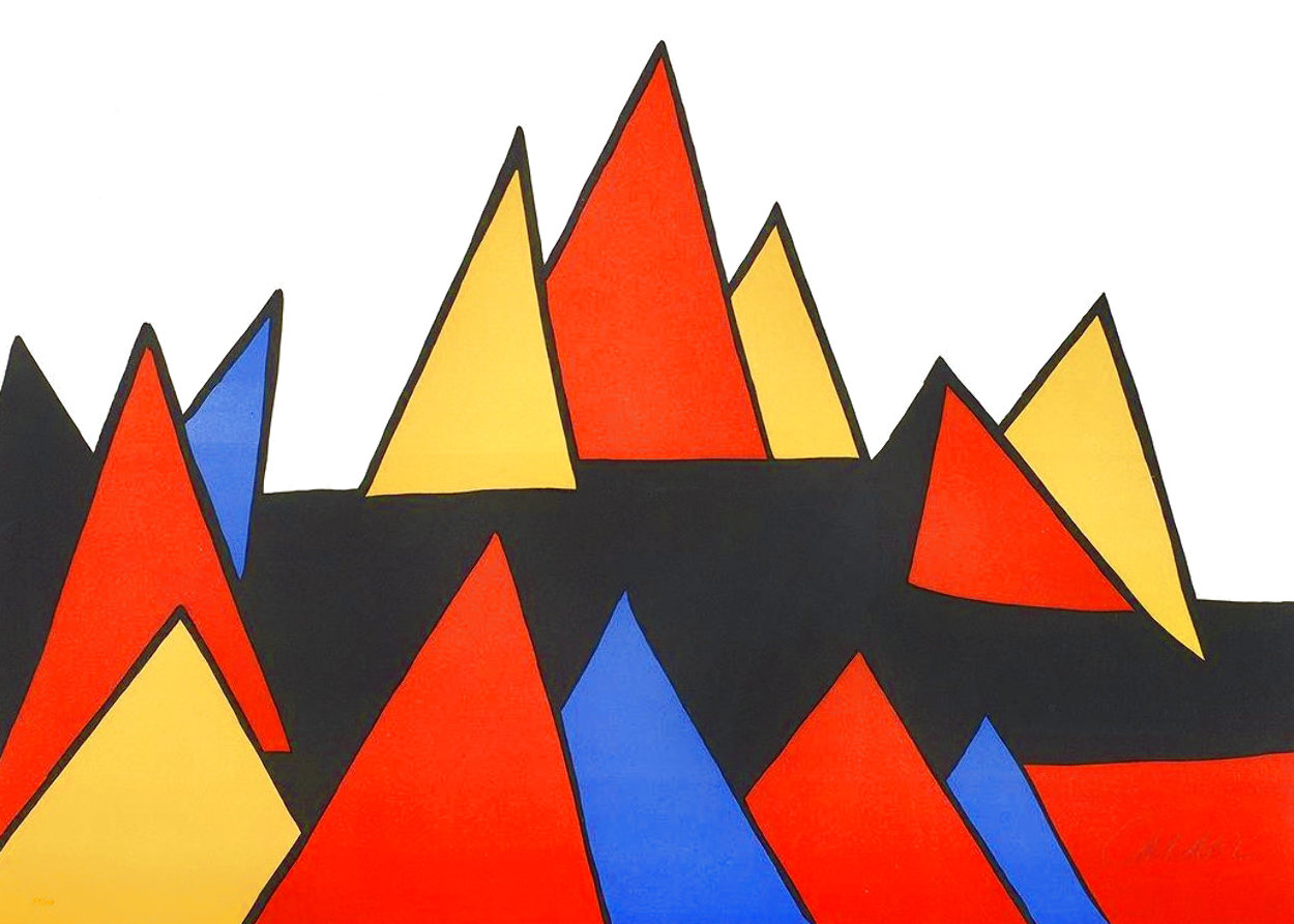 Pryamids 1973 Limited Edition Print by Alexander Calder
