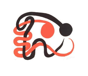 Deux Serpents Limited Edition Print - Alexander Calder