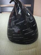 Black Winkle Kiss Unique Glass Sculpture 2003 9 in Sculpture by Nancy Callan - 1