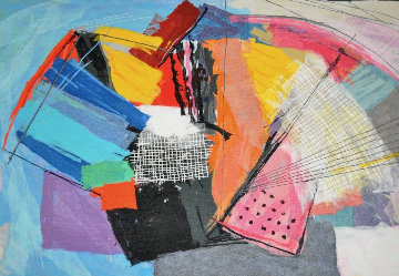Abstract Tapestry 1990 53x72 Tapestry by Calman Shemi