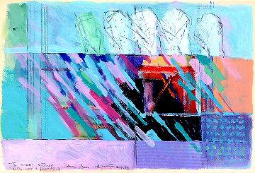 Untitled Painting 1988 25x32 Original Painting - Calman Shemi